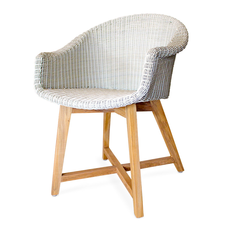 Conch | Teak & Wicker Dining Chair