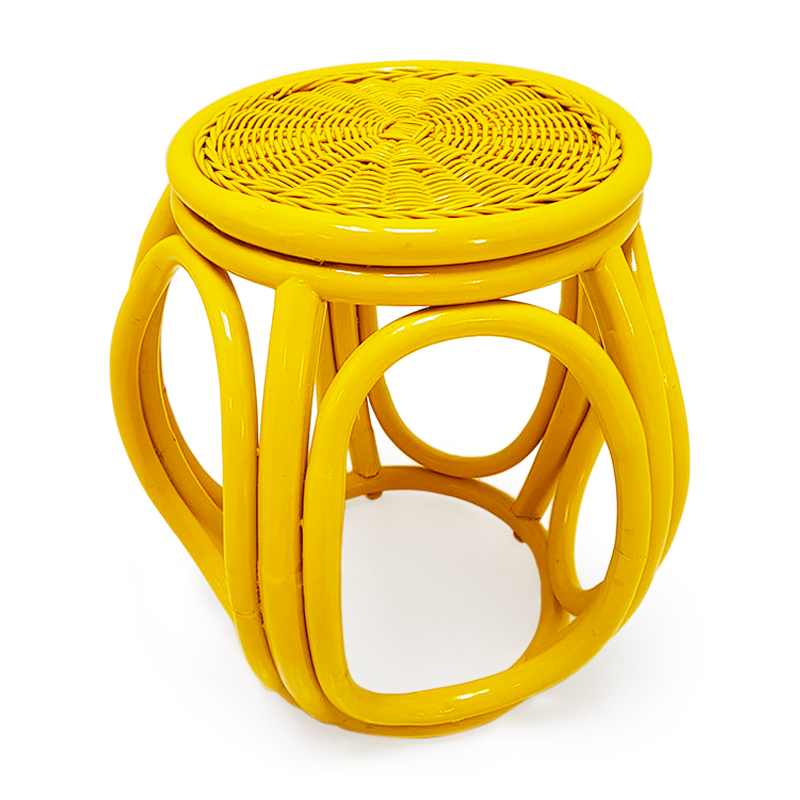 Coral   Cane rattan stool