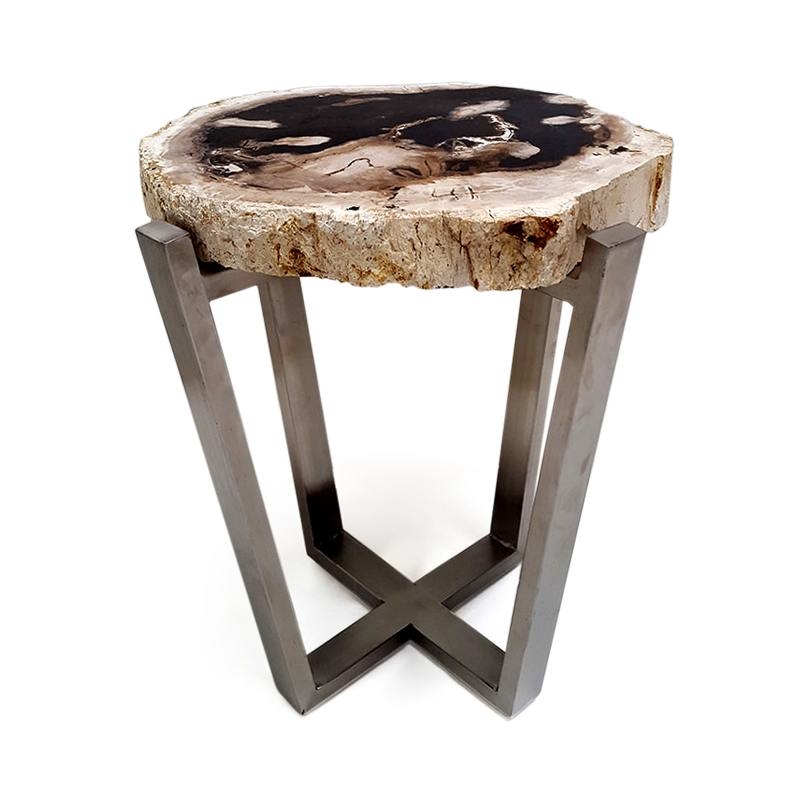 Curl   Petrified wood side table