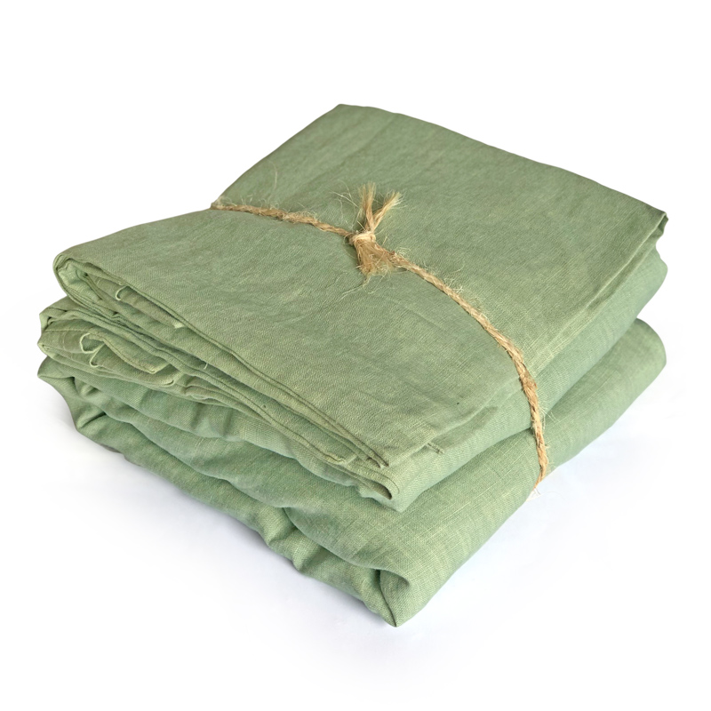 Earth | Organic plant-dyed linen duvet set