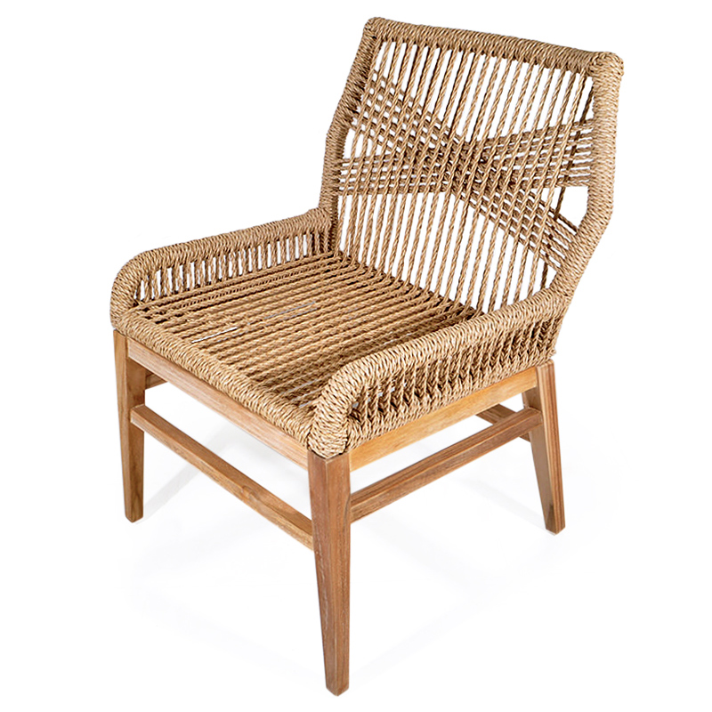 Grass | Wicker and teak dining chair