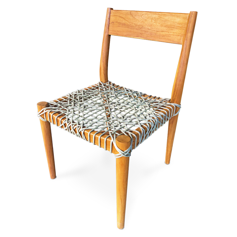 Loom | Teak & rope chair