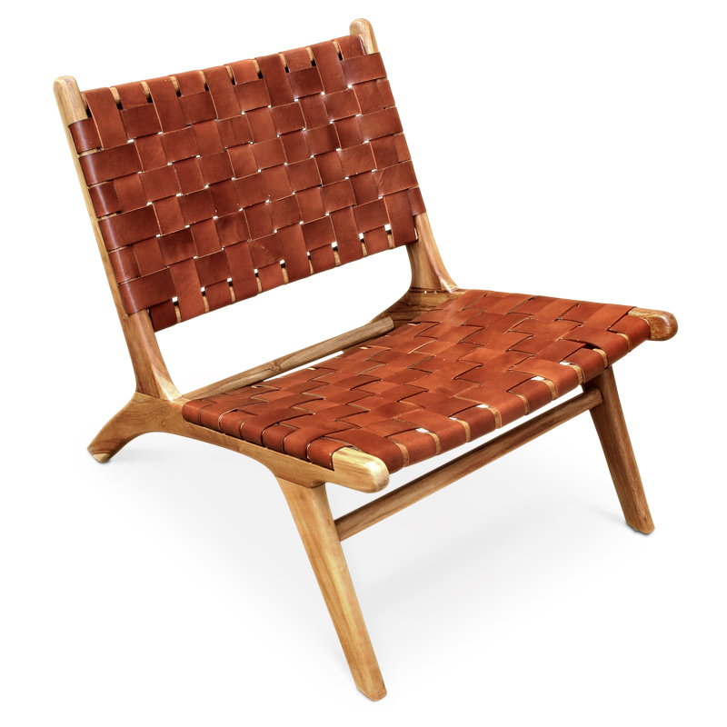 Savasana | Leather & teak lounger