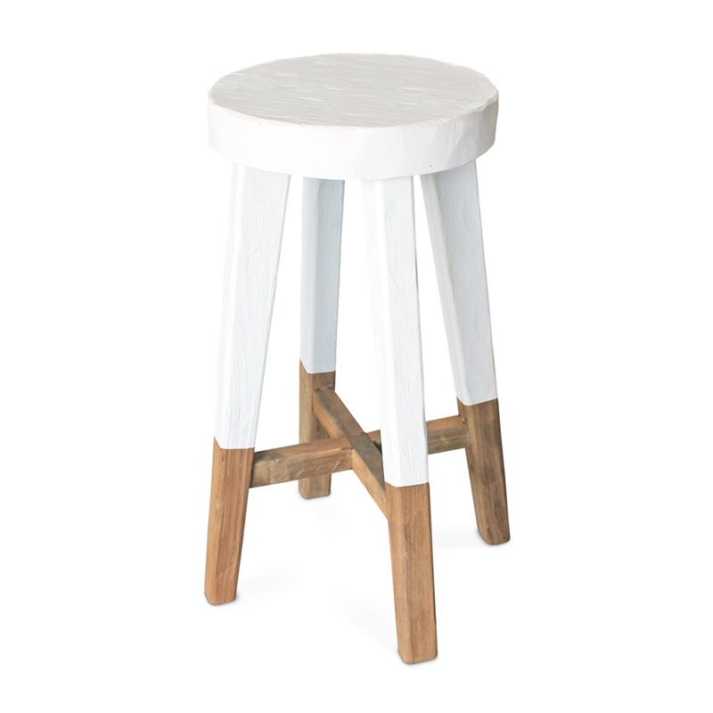 Ulu | Rustic Teak Bar Stool