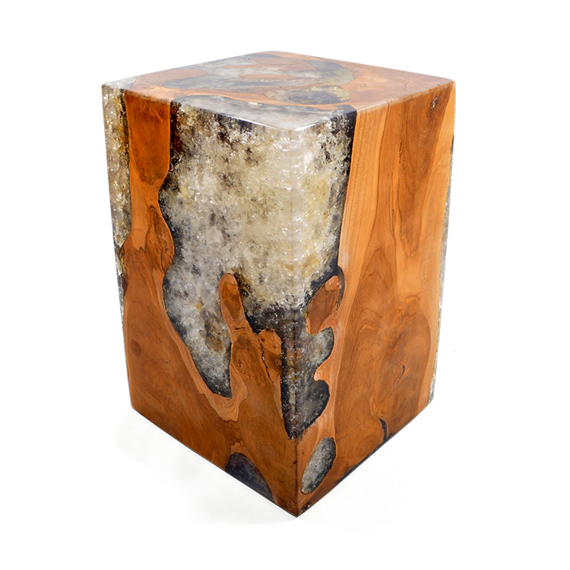 Waterfall | Resin & teak root side table