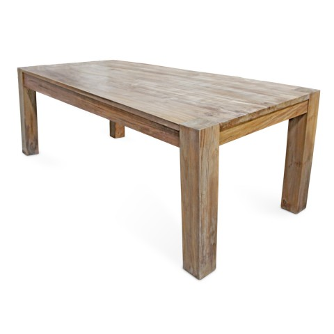 True | Reclaimed teak dining table