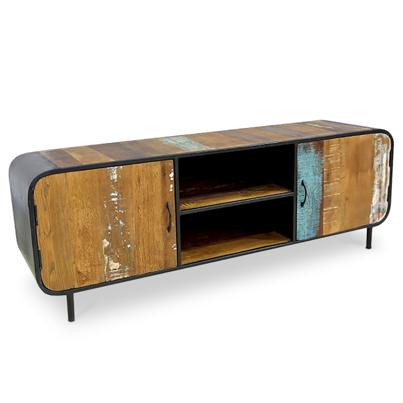 Aware | Teak & metal TV console