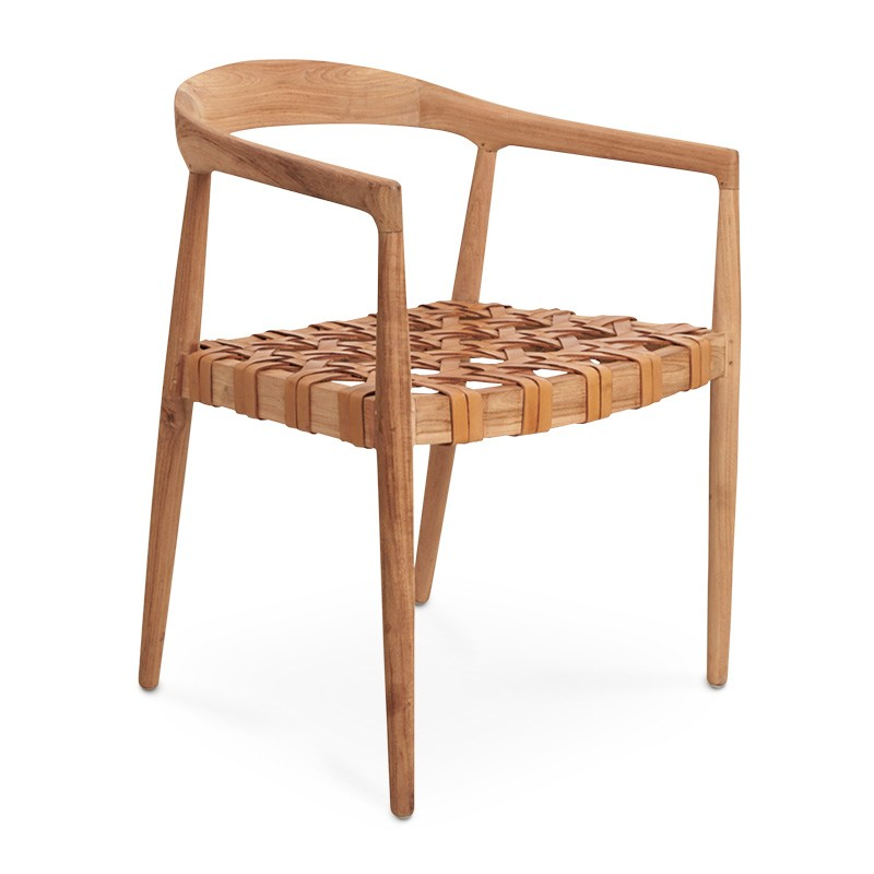Bound | Teak & Leather Dining Chair