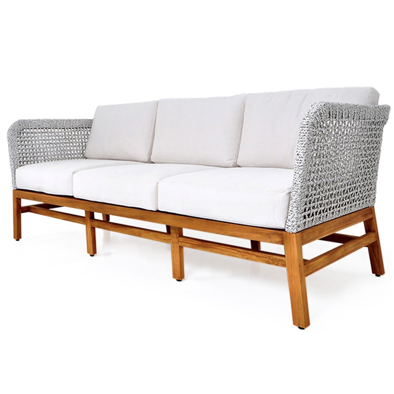 Center | Rope & teak sofa