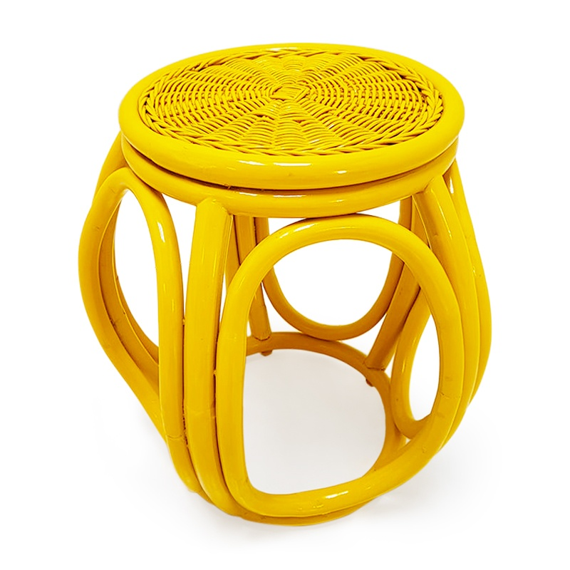 Coral | Cane rattan stool