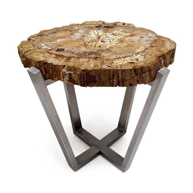 Curl | Petrified wood side table