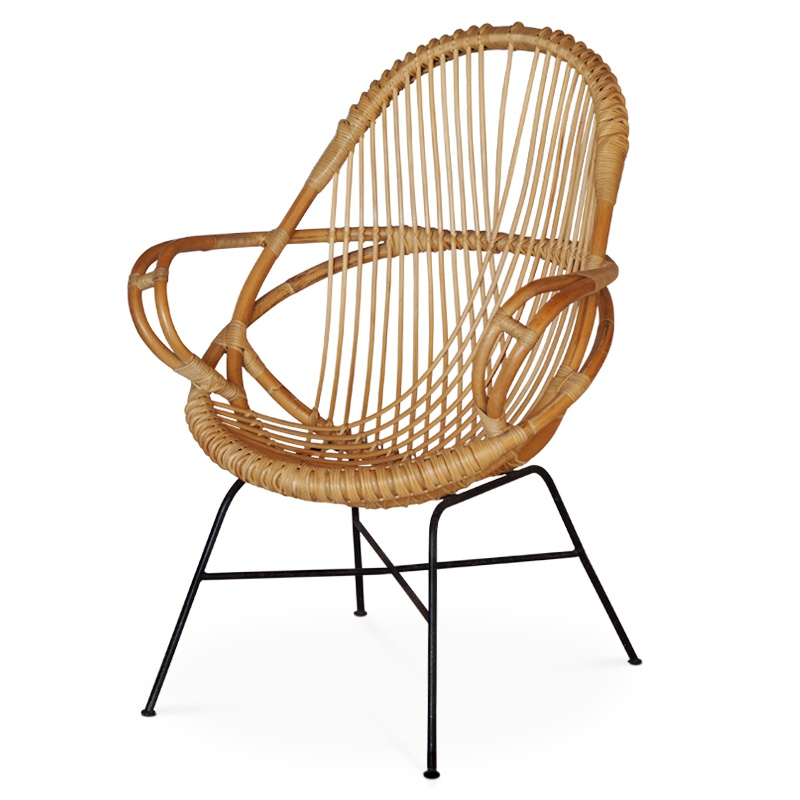 Diamond Natural Rattan Lounger