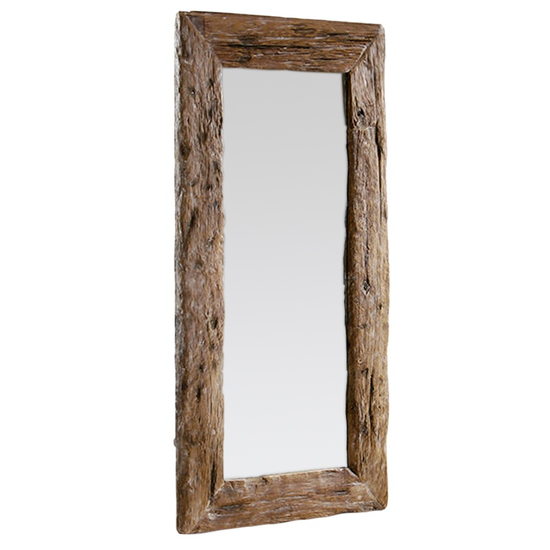 Fearless | Recycled teak mirror