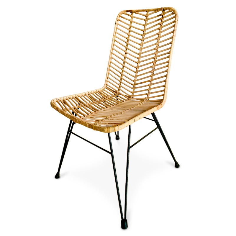 Goddess | Rattan & iron dining chair