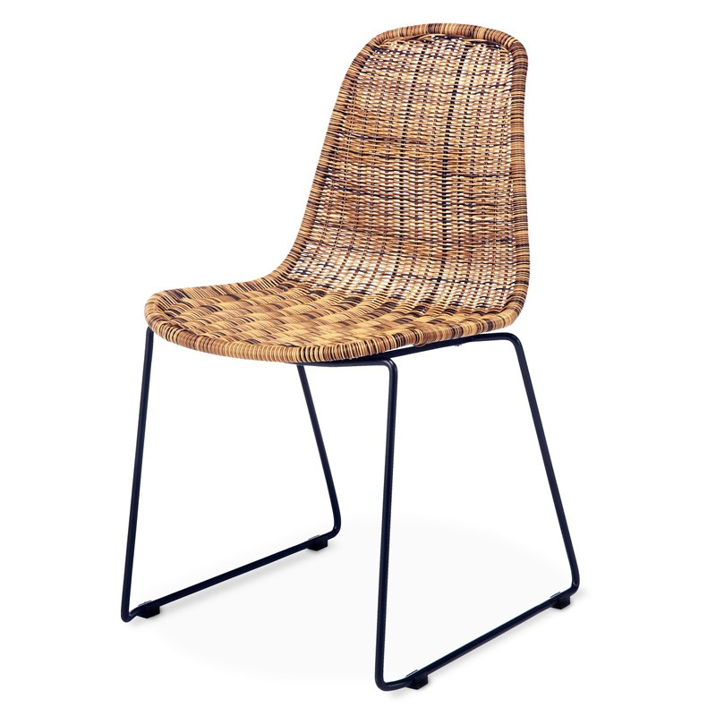 Herbal | Rattan & iron dining chair