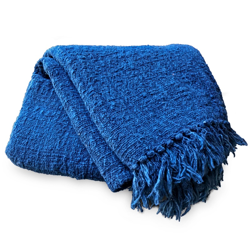 Indigo | Naturally dyed cotton throw