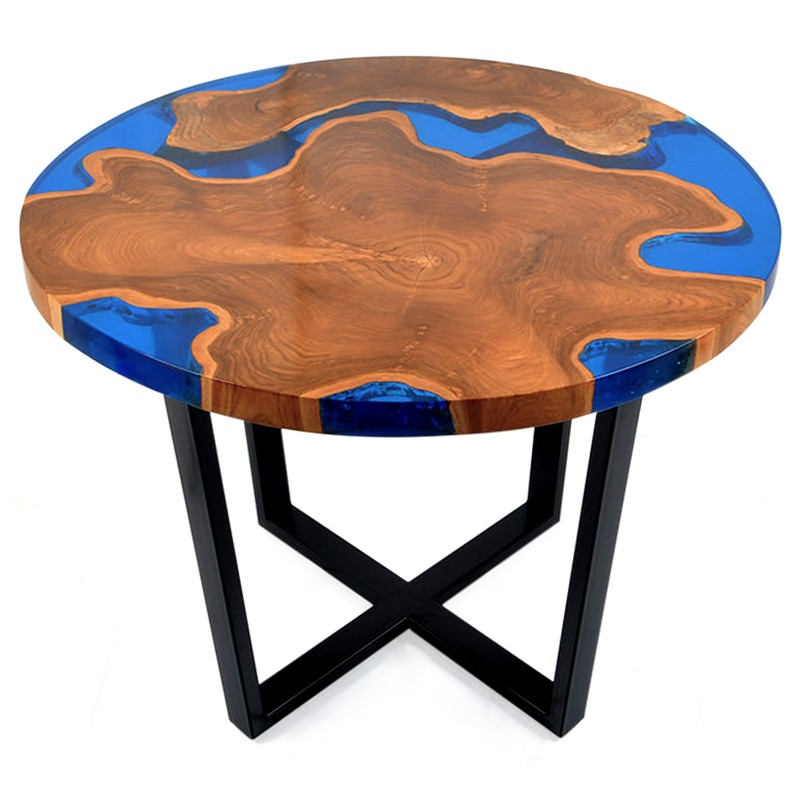 Island | Resin & teak root coffee table