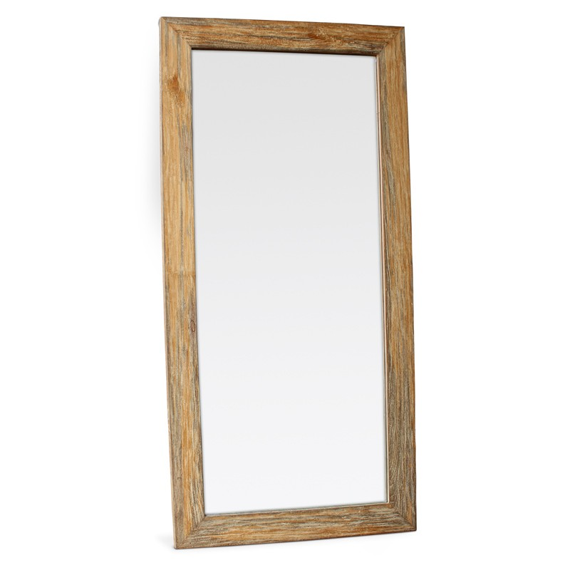Java | Weathered teak mirror