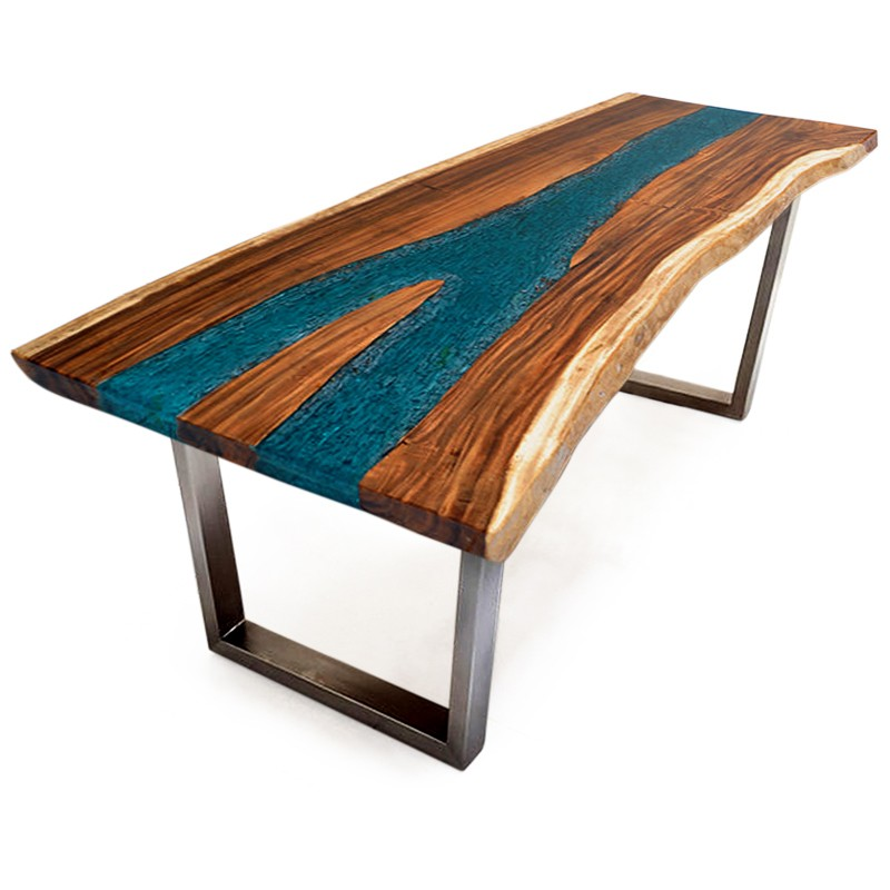 Lagoon | Suar & resin dining table