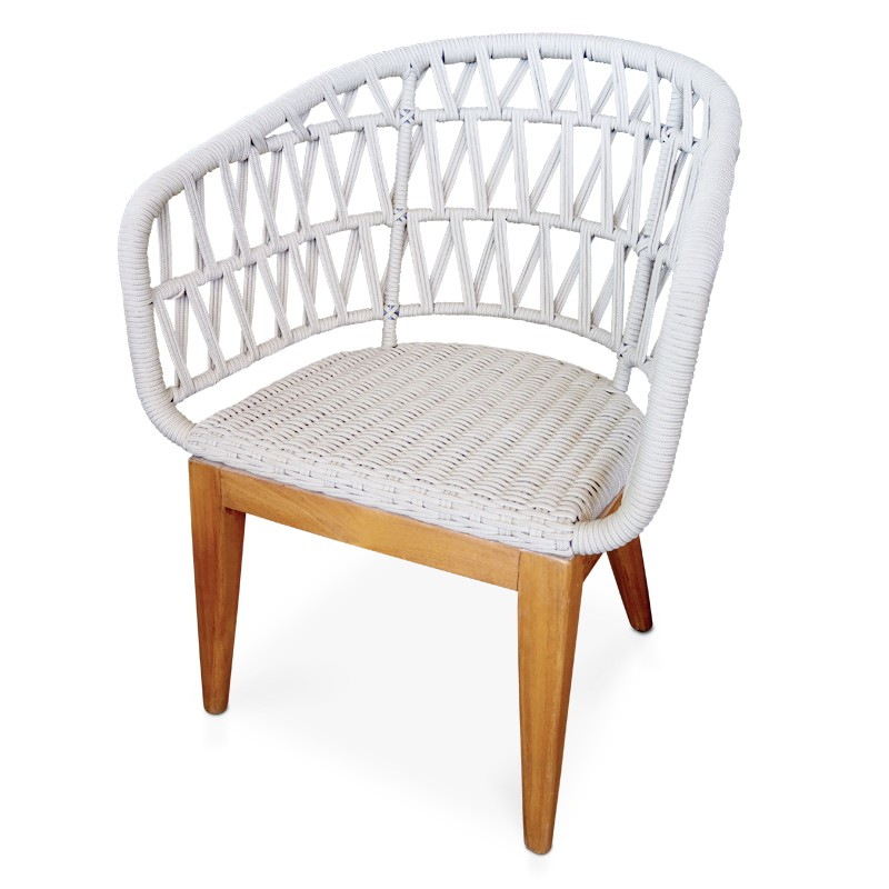 Lattice | Teak & rope dining chair