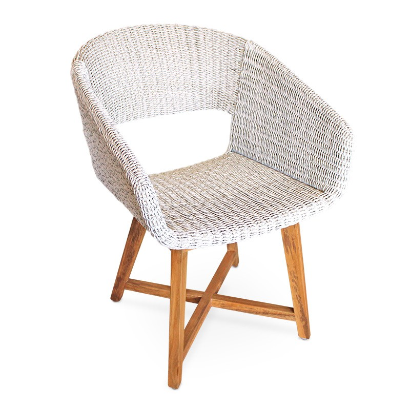 Naga | Teak & Wicker Dining Chair