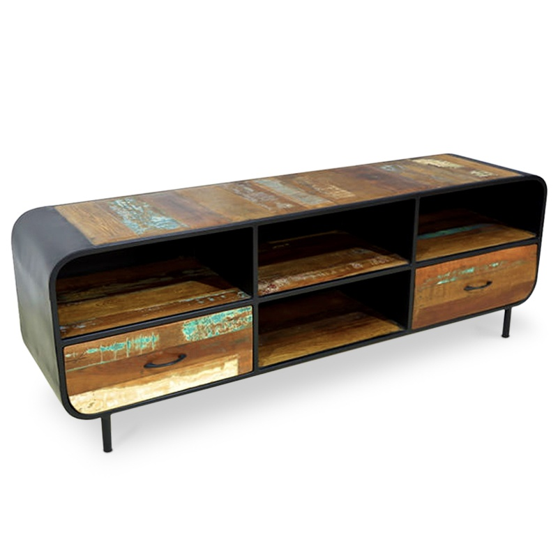 Now | Teak & metal TV console