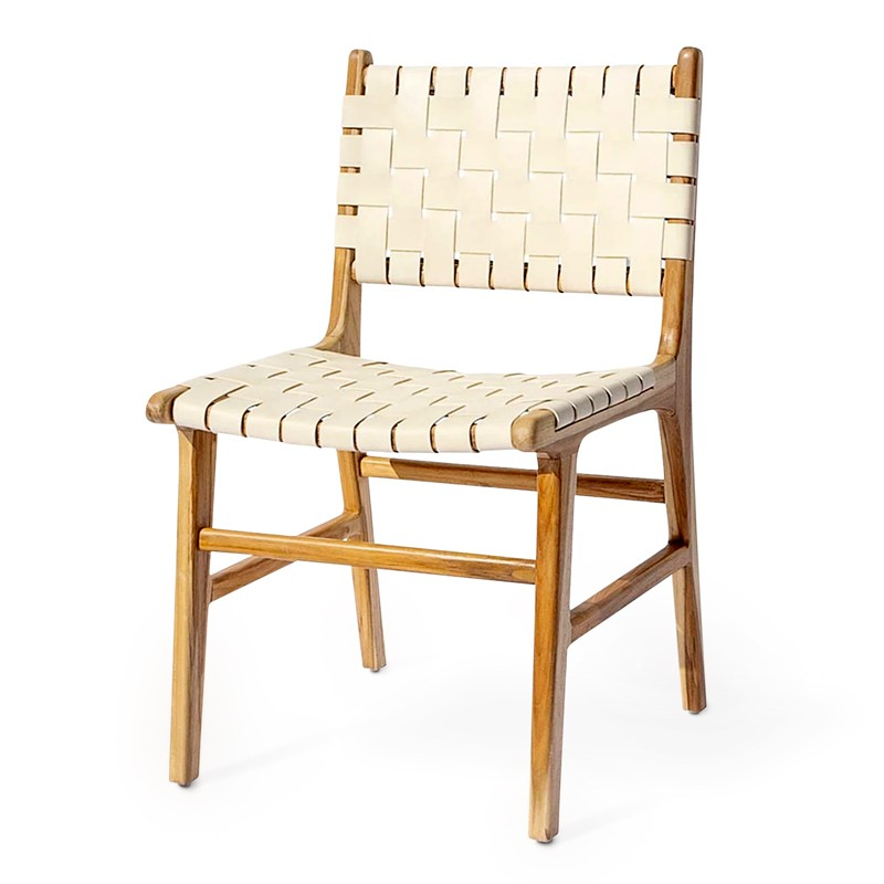 Oath | Teak & leather dining chair