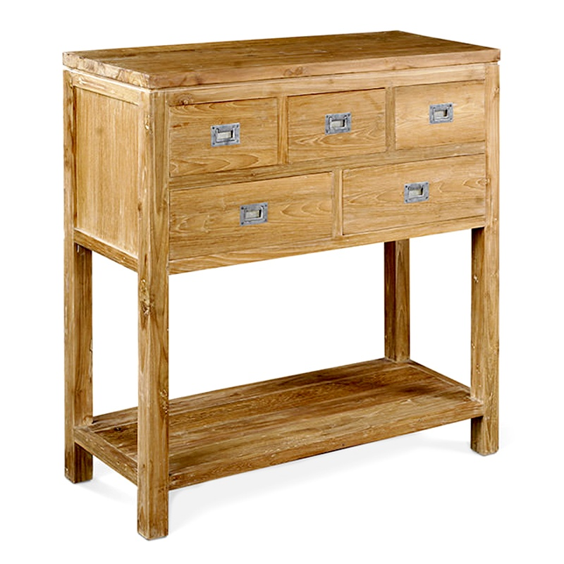 Possibility | Five drawer teak console