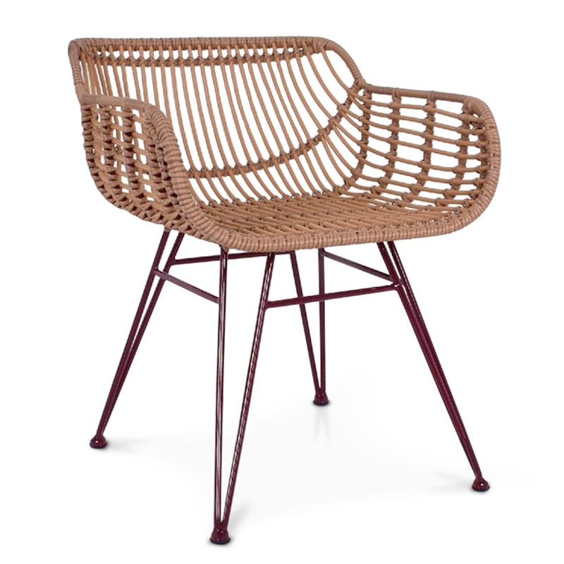 Retreat | Rattan & iron dining chair