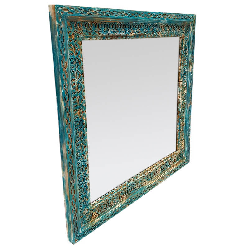 Rise | Teak hand-carved mirror