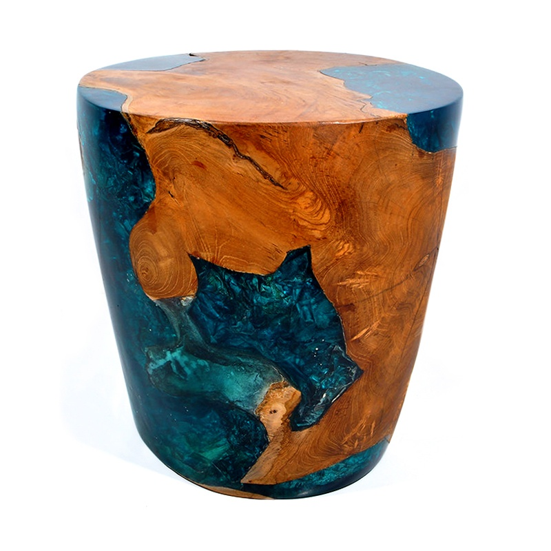 River | Resin & teak root side table