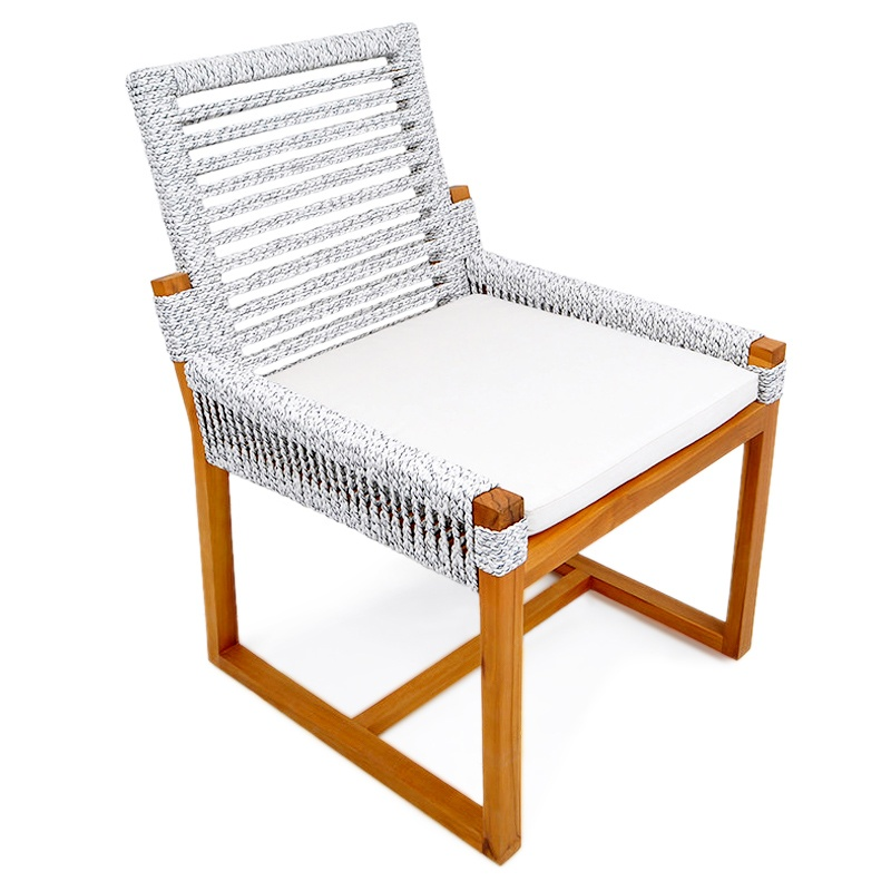 Safe | Rope & teak chair
