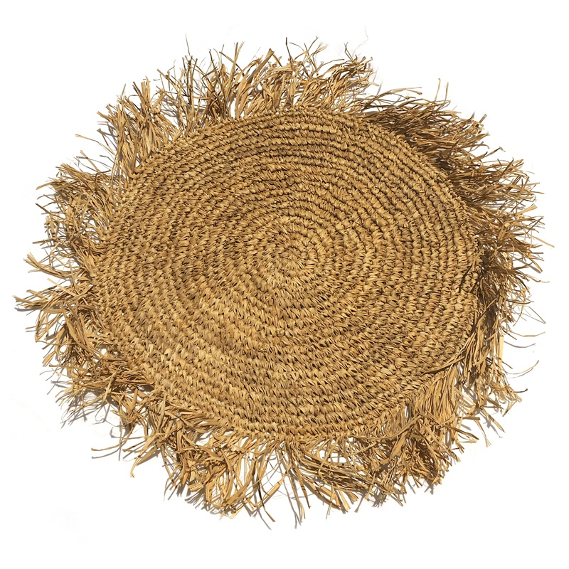 Dahlia | Natural Raffia placemat