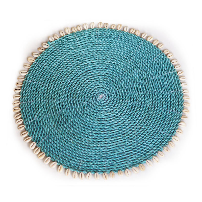 Seashell | Turquoise placemat