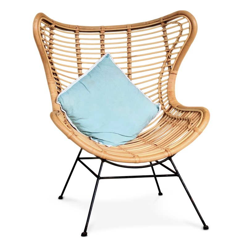 Smile | Rattan & iron lounger