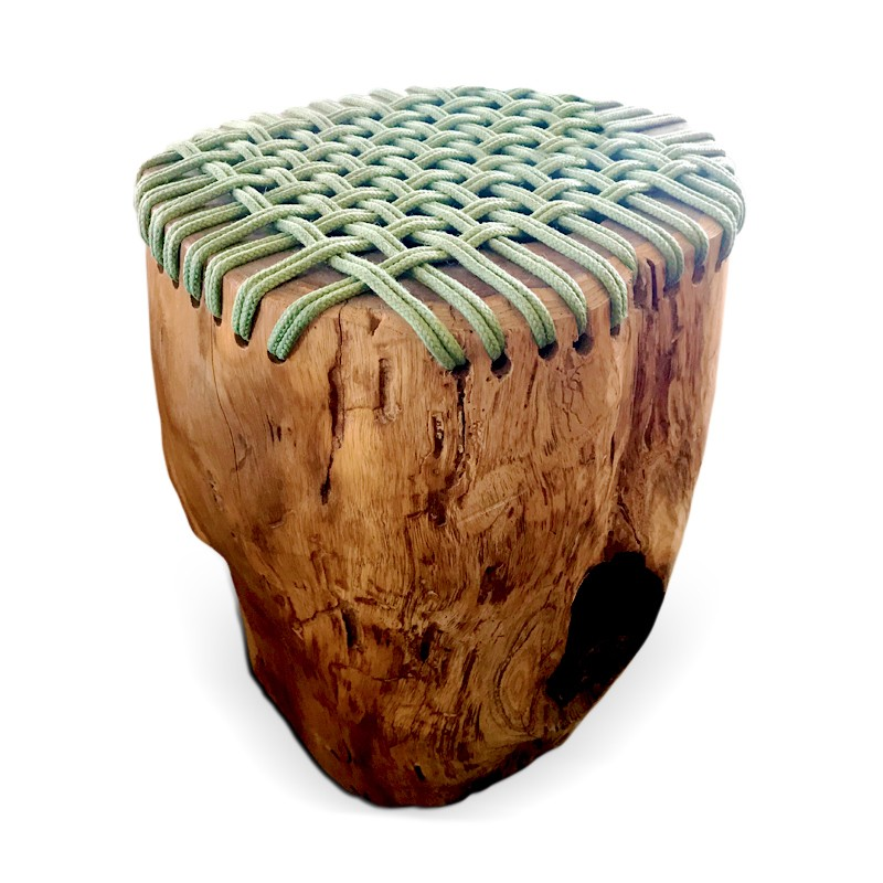 Sole | Teak root & rope stool