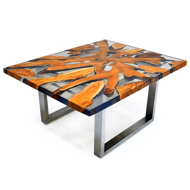 Swim | Teak root & resin coffee table