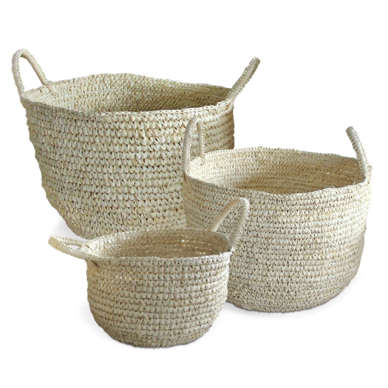 Vanilla | Natural raffia basket